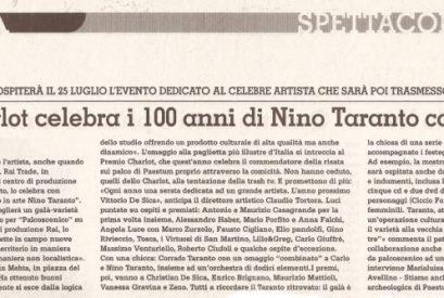 Il Premio Charlot Omaggia Nino Taranto